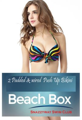 2 Padded & Wired Push Up Bikini Bra Beach Box