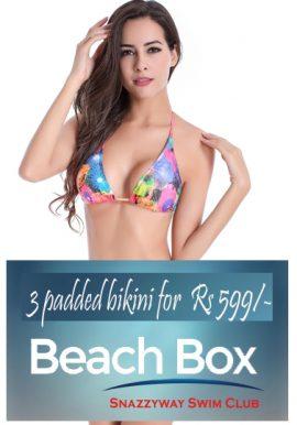 3 Padded Excited Swimwear Bra Subscription Beach Box