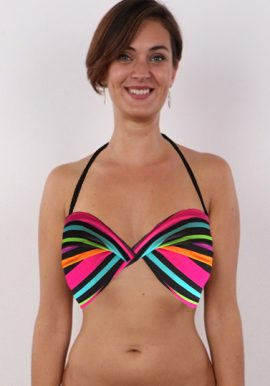 3SUiSSeS Multi Colored Halter Beach Bra