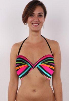 3SUiSSeS Multi Colored Halter Beach Bra