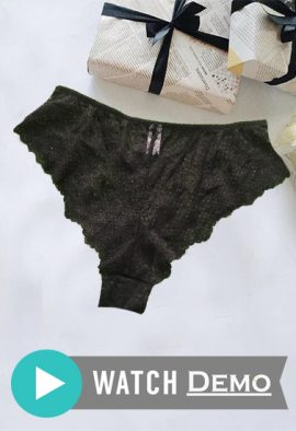 BRASNTHINGS Own The Night Flirty Black Lace Panty