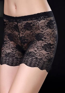 Chicca Sexy Transparent Floral Lace Fabric Safety Boyleg