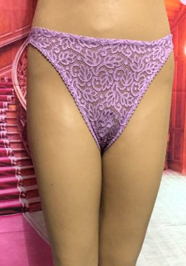 DIM Seductive Floral Embroidery Lace V-Thong