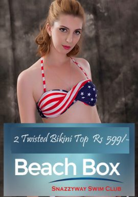 Luxurious Pack Of 2 Twisted Bikini Bra Beach Box