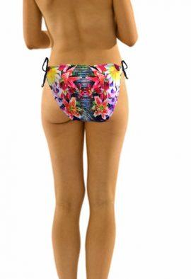 Bardot Cute Floral Stripe Tie Side Swim Brief
