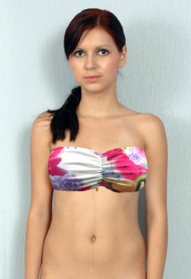 Bossy Front Ruched Printed Strapless Bra