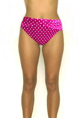 F&F Pink Polka Dot High Rise Plus Size Bikini Brief