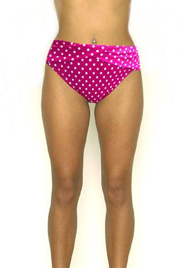 08db686aff F&F Pink Polka Dot High Rise Plus Size Bikini Brief + 1 Free Bra