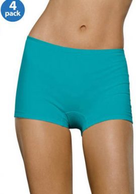 Hanes Pack Of 4 Cool Blend Unisex Boyshort Briefs