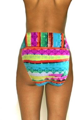 Ladies Multicolor Wide Waistband High Rise Bikini Brief