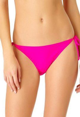 Ladies Pink Side Tie Bikini Bottom