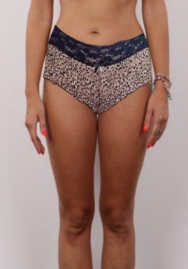 No Secret Sheer Printed Lace Boyshort With Attached Pendent