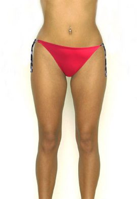 Ocean Club Sexy Red Contrast Tie Side Bikini Bottom