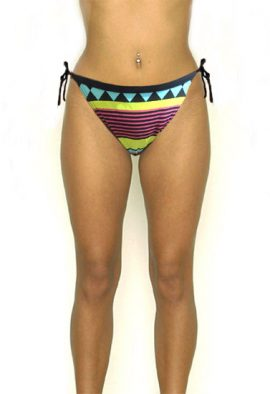 Oxylane Retro Stripe Triangle Shape Bikini Bottom