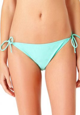 Power Flower Teal Blue Side Tie Bikini Bottom
