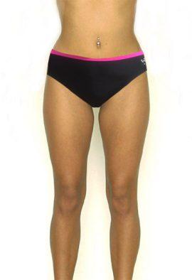Wavezone Star Rhinestone Black & Pink Bikini Panty