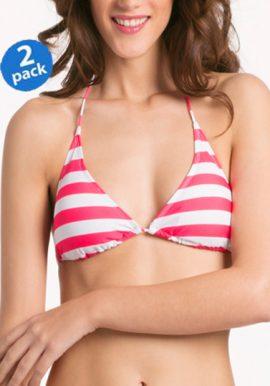 Buy 2 Mixed Stripes Print Halter Bikini Bras