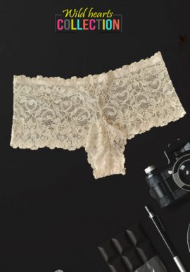 Colours Of The World White Cheeky Lace Boyshorts