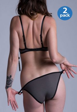 Fully Transparent Combo Pack Of Sexy String Panties