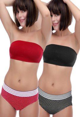 Shop 2 Tube Bra With Mix & Match Panty Set