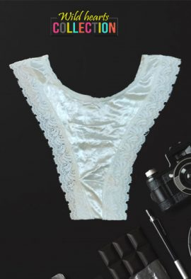 Very Sexy High-Cut Scalloped Lace White Thong
