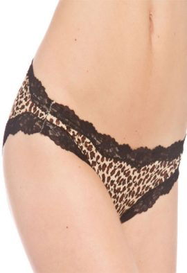 Very Sexy Scalloped Lace Cheetah Print Brief