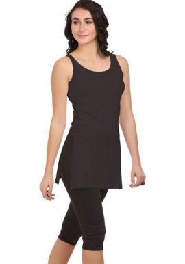 Best Fit Ladies Black Long Camisole
