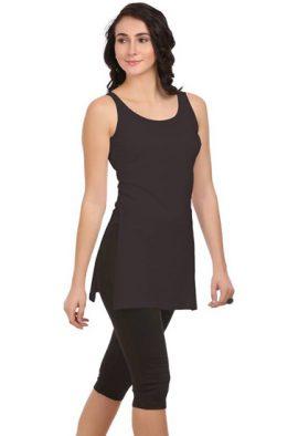 Best Fit Ladies Black Long Camisole