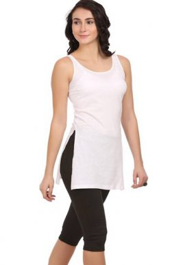 Perfect Fitted Ladies White Long Camisole