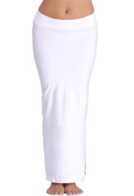 Snazzyway White Petticoat Saree Shapewear