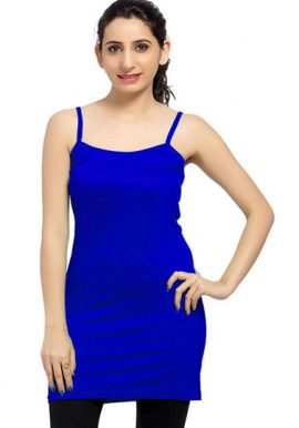 Royal Blue Long Spaghetti Strap Camisole Slip