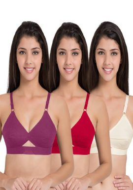3 Women's Ultimate Lift and Support Wireless Plus Size Bra