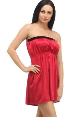 Attractive & Elegant Red Strapless Babydoll