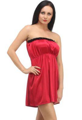 Attractive & Elegant Red Strapless Babydoll