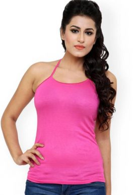 Ladies Pink Halter Top Cami