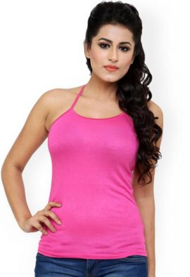Ladies Pink Halter Top Cami
