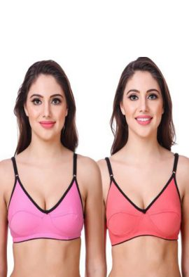 Pk Of 2 Cotton Mixed Color Everyday Bra