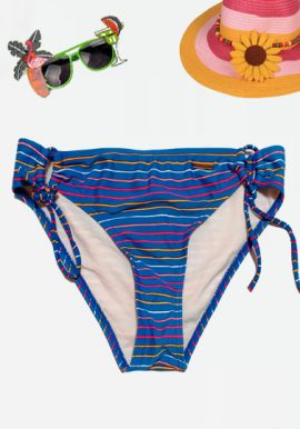 Protest Striped Sun Kissed Side Tie Bikini Bottom