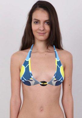 Summer New Fluorescent Print Halter Swim Bra