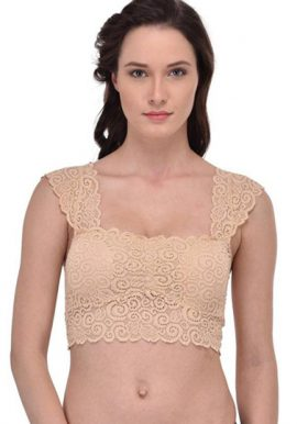 Very Sexy Beige Lace Blouse Bra