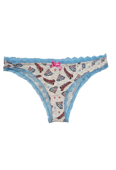 Skin And White Colored Printed Lingerie Sets
