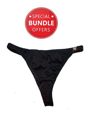 Sets of 2 Black Branded Hot Panties