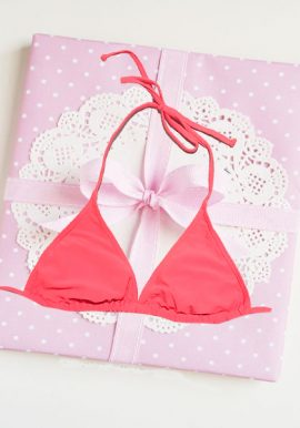Snazzy Pink Removable Padded Halter Bra