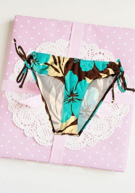 Blue Ruby Tie -Side Knot Fully Printed Panty