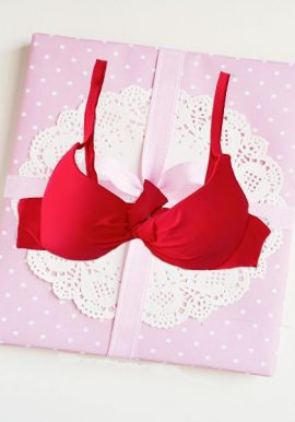 Rouying Red Padded Underwired Pushup Bra