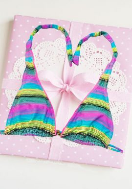 Snazzy Multicoloured Removable Padded Printed Bra