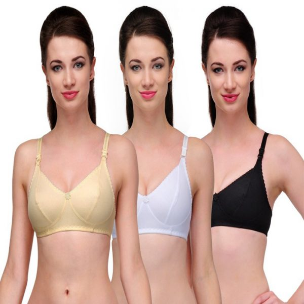 Snazzy Impressive Wireless Cotton Bra Pack of 6