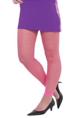 Adult Neon Pink Stylish Fishnet Legging