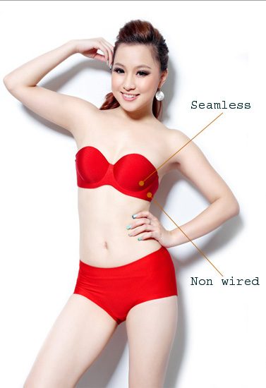 Red strapless Best Bras for Indian Dresses Snazzyway India