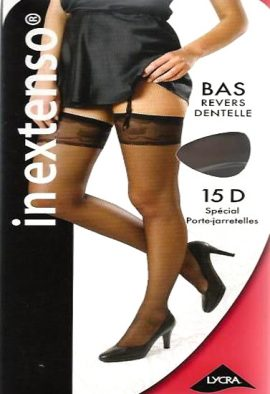Bas In Extenso Revers Dentelle Beige Stockings